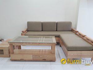 mẫu sofa gỗ sồi phòng khách đẹp