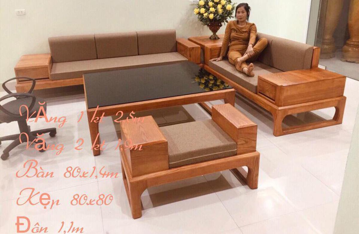 Bàn ghế gỗ tay hộp sang trọng